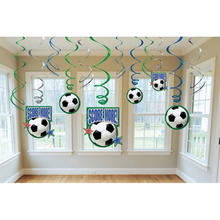 Závěsná dekorace fotbal 12ks 60cm