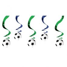 Závěsná dekorace fotbal 5ks 70cm