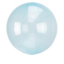 Průhledný balón světle modrý 45 cm