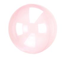 Průhledný balón růžový 45 cm