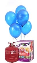 Helium Balloon time + balónky modré 50ks