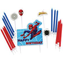 Spiderman svíčky 17 ks set