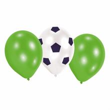 Balónky fotbal 6 ks mix 22,8 cm