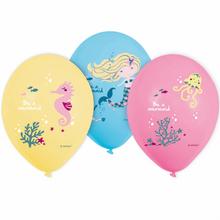 Mořská panna balónky 6 ks 27 cm