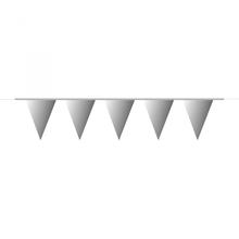 Vlajka stříbrná 10 m