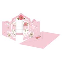 Princess pozvánky na party 8 ks
