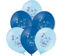 Balónky 2.narozeniny modrý slon 6 ks
