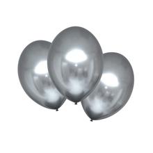 Balónky chromové stříbrné 6 ks 30 cm