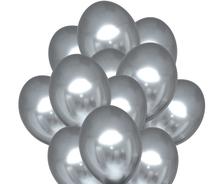 Balónky chromové stříbrné 20 ks 30 cm