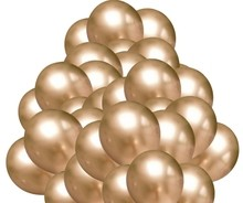 Chromové balónky zlaté 50 ks 30 cm