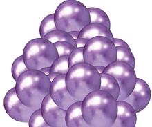 Balónky chromové fialové 50 ks 30 cm