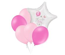 Set 4.narozeniny růžový slon hvězda foliový balónek