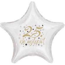 25. narozeniny balónek hvězda