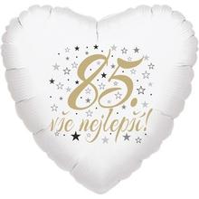 85. narozeniny balónek srdce
