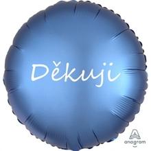 Fóliový balónek modrý Děkuji