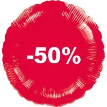 Balónek fóliový červený -50%