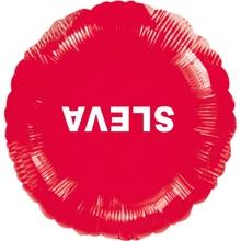 Visící balónek fóliový červený SLEVA