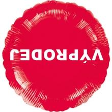 Visící balónek fóliový červený VÝPRODEJ