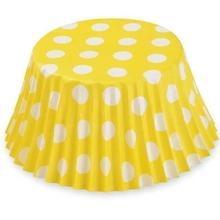 Košíčky žluté puntíky 50ks