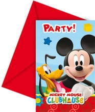 Mickey Mouse pozvánky na party 6ks