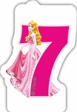 Princess svíčka na dort číslo 7
