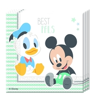 Mickey Baby ubrousky 2-vrstvé 33cm x 33cm