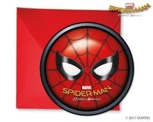 Spiderman pozvánky na party 6ks
