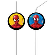 Spiderman slámky na pití 6 ks