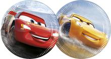 Cars talíře 8 ks 20 cm, mix 2 motivy