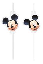 Mickey Mouse slámky na pití papírové 4 ks
