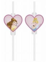 Princess slámky na pití papírové 4 ks
