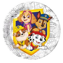 Tlapková patrola talíře 8 ks 23 cm