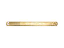 Vystřelovací konfety srdíčka zlaté lesklé 60 cm