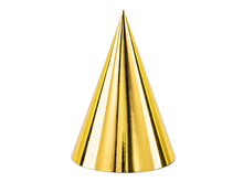 Čepičky zlaté 6 ks 16 cm