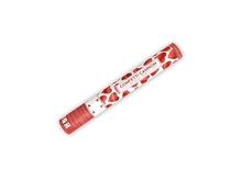 Vystřelovací konfety srdíčka červené 40cm