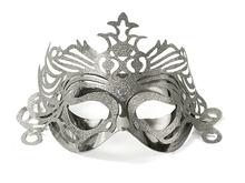 Škraboška stříbrná s ornamentem