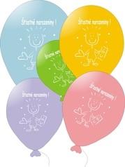 Balonky na narozeniny s potiskem ,10ks mix