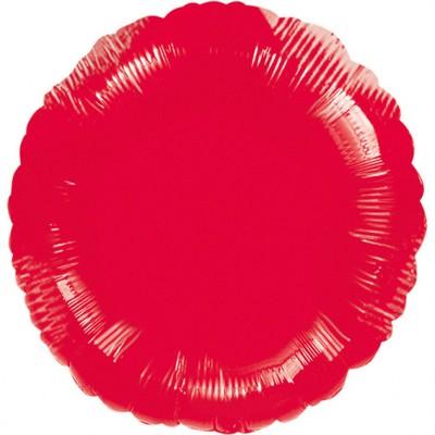 Balónek kruh Red Metallic
