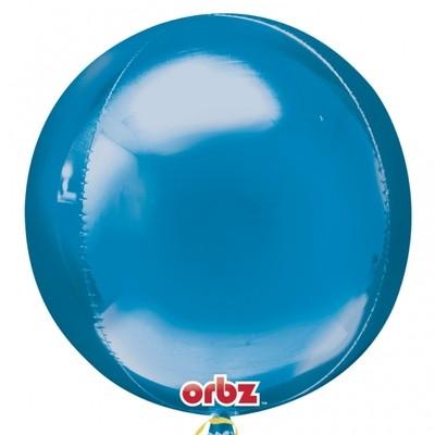 Foliový balónek modrá koule 38cm