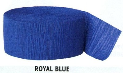Krepový papír Royal Blue 24,6m x 4,4cm