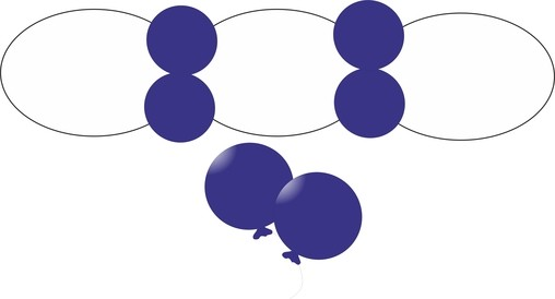 Balonek D5 dekorační 012 Mid Blue