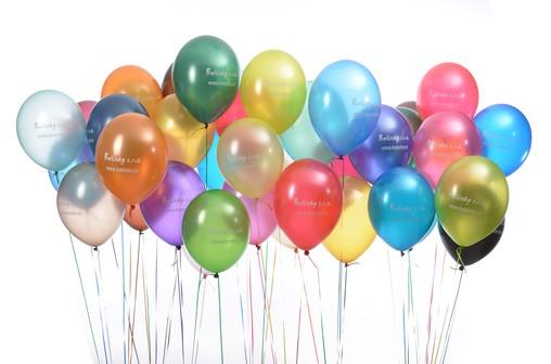 Balónky s reklamním potiskem 50 ks. Svatební balónky, narozeninové balónky i jiné balónky s potiskem dle Vašeho přání.