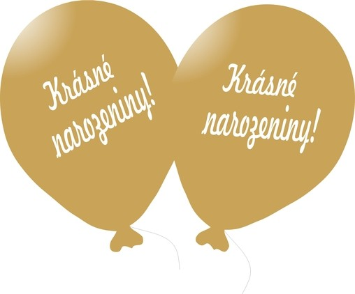 Balónek zlatý Krásné narozeniny!