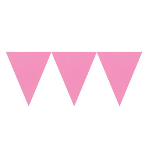 Vlajka světle růžová 450cm