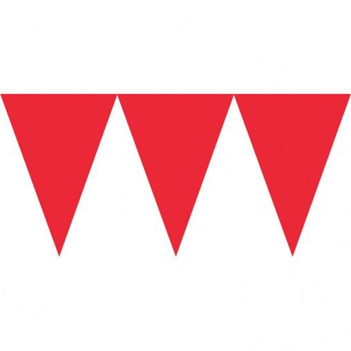 Vlajka červená 450cm