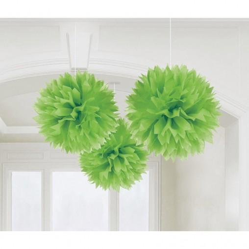 Závěsné dekorace zelené 3 ks 40 cm