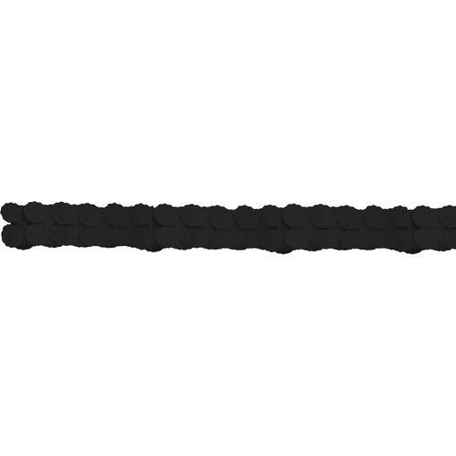 Girlanda papírová černá 365 cm