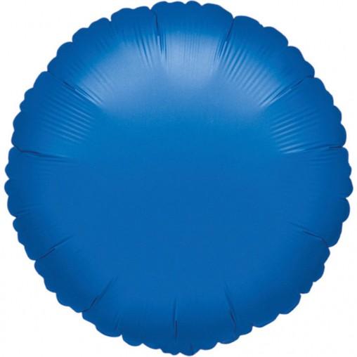 Balónek kulatý Blue Metallic