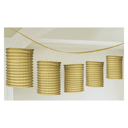 Lampionové girlandy zlaté 3,65m