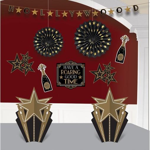 Hollywood dekorace set 10 ks